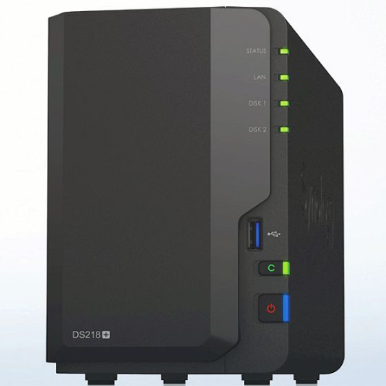 Synology NAS DS218+ -2GB RAM inkl. 10TB (1x 10TB)