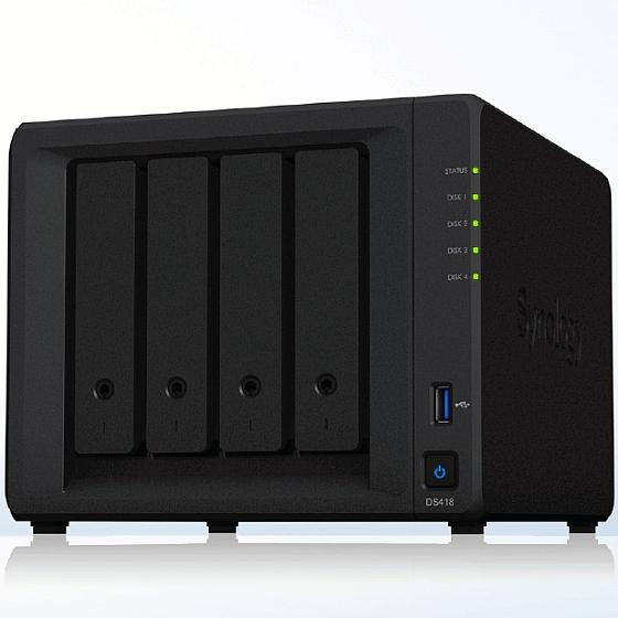 Synology DS418 inkl. 16TB (4x4TB)