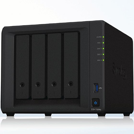 Synology NAS DS418play inkl. 24TB (3x8TB)